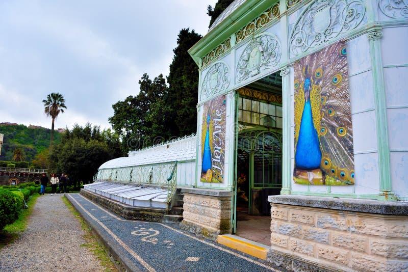 Florarte utställning Arenzano Genoa Italy arkivfoton