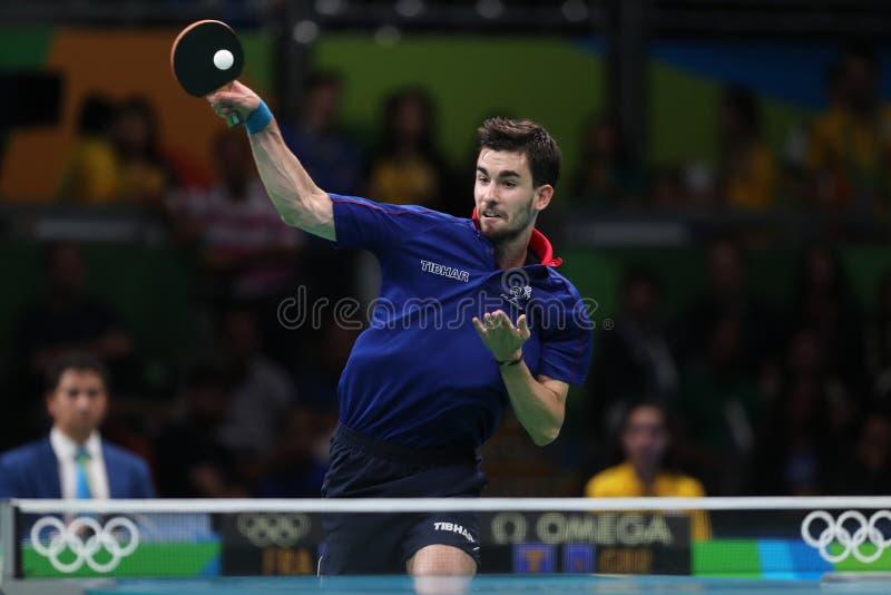 Flore Tristan bawić się stołowego tenisa przy olimpiadami w Rio 2016 obraz royalty free