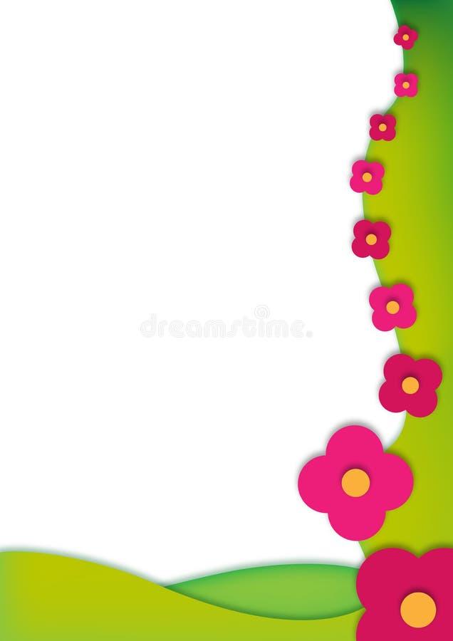 floreal πλαίσιο απεικόνιση αποθεμάτων
