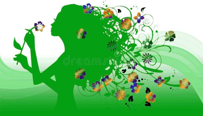 Download Floreal girl stock illustration. Illustration of smell - 2781186