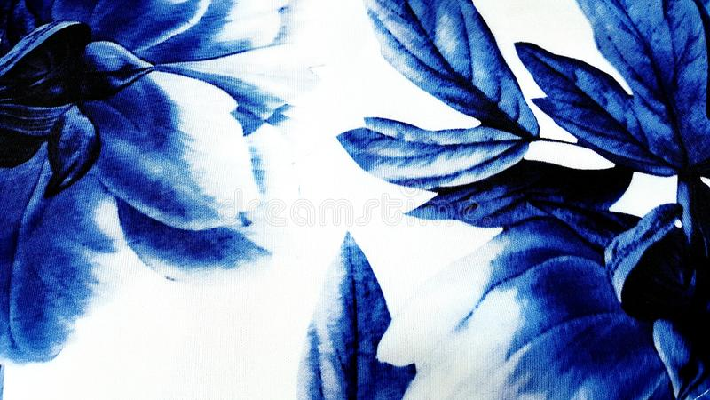 Floreale blu astratto fotografia stock libera da diritti