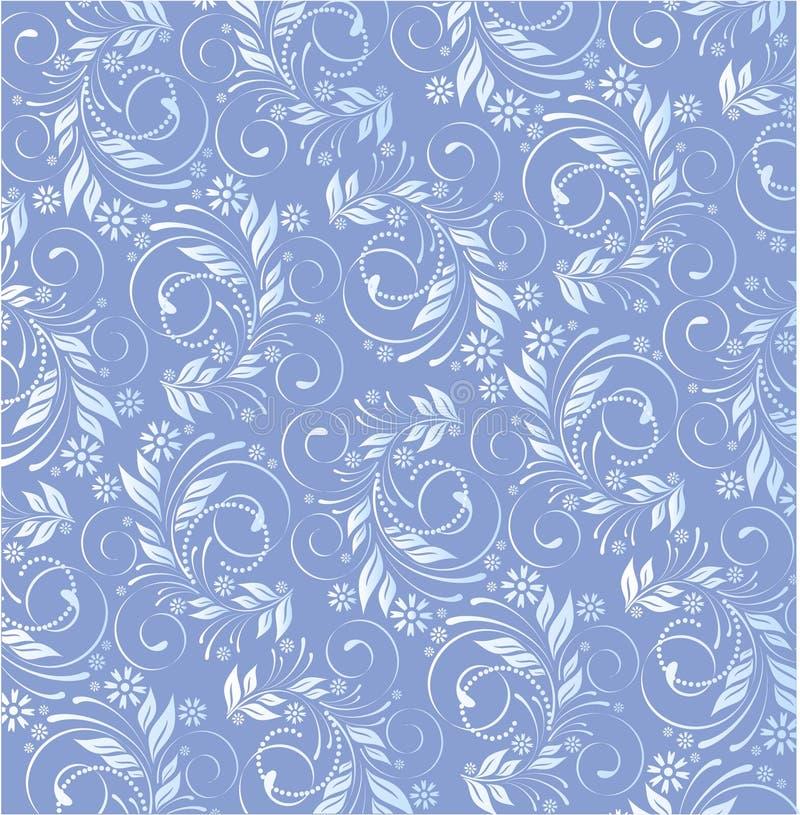 Floreale blu di vettore illustrazione vettoriale