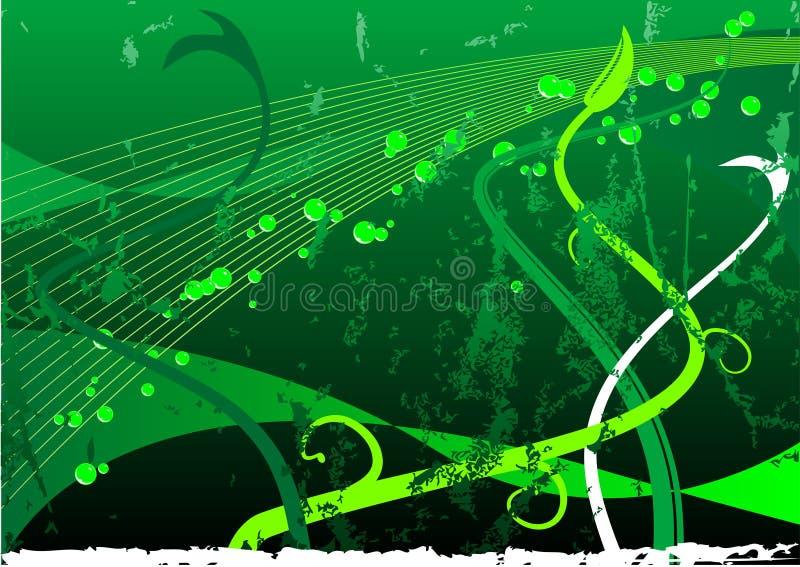 Floreale Grungy illustrazione vettoriale