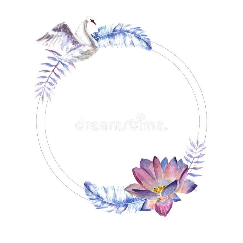 Florece el ejemplo de la acuarela E libre illustration