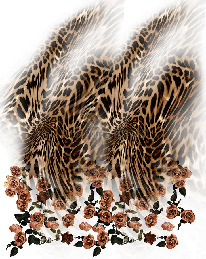 florece el fondo del leopardo imagenes de archivo
