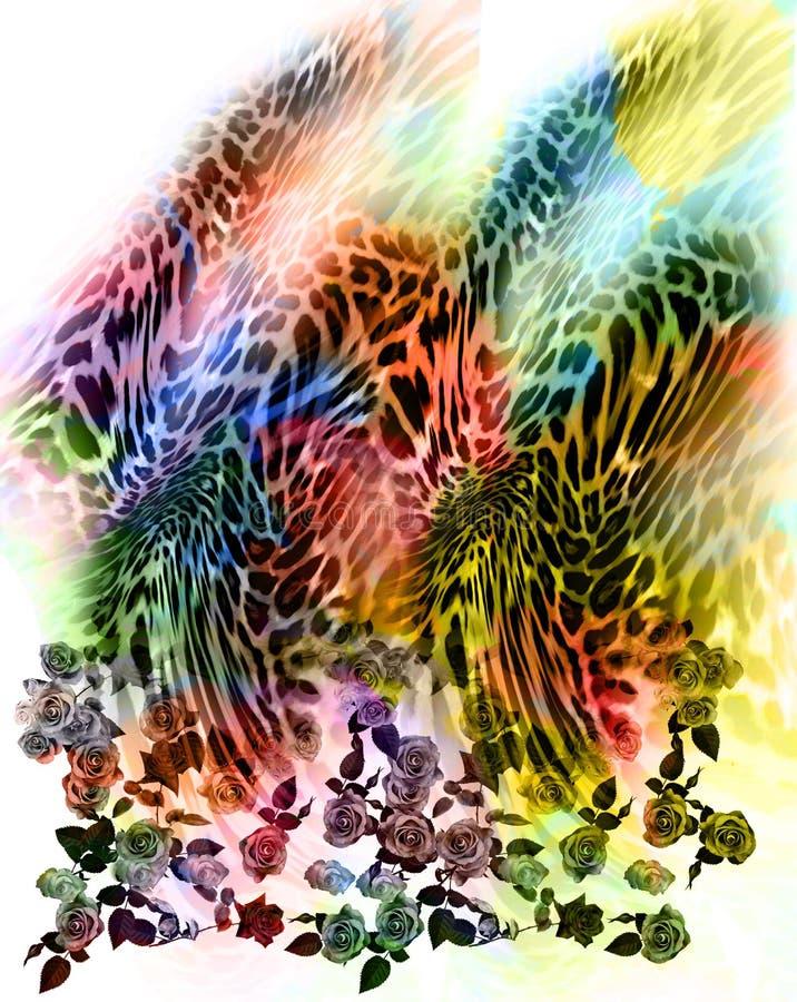 florece el fondo del leopardo fotos de archivo
