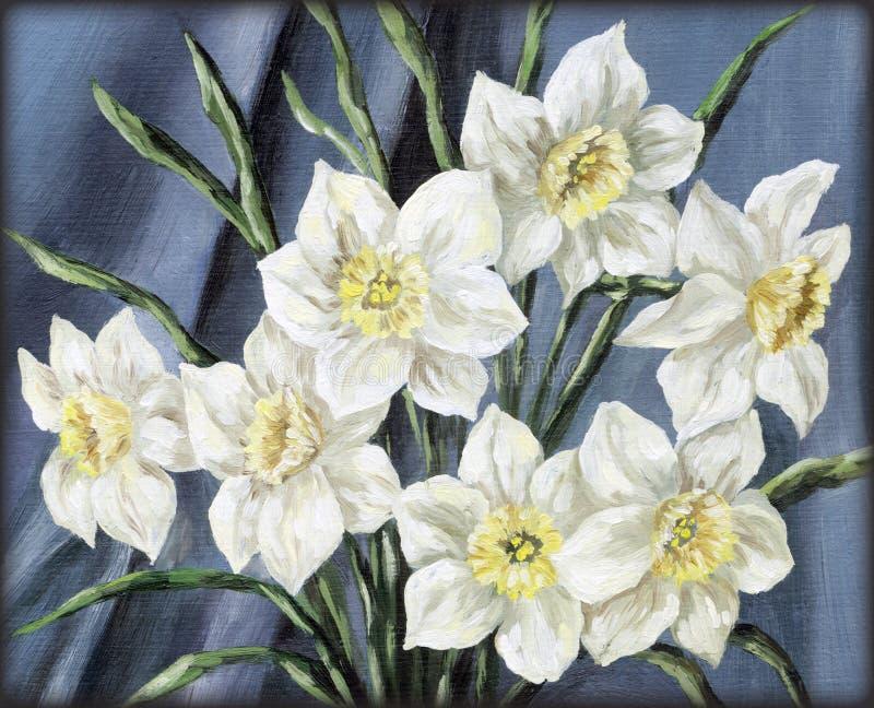 Florece el narciso libre illustration