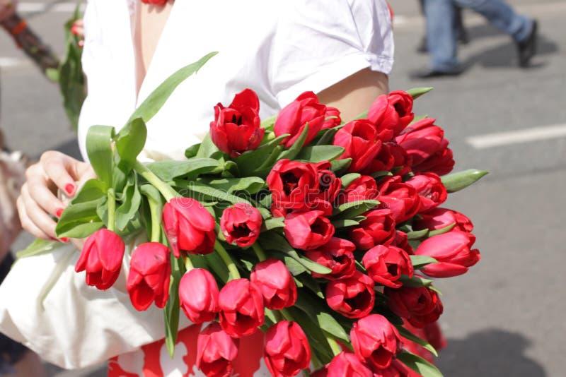 Florece el ramo hermoso para el día de fiesta imagenes de archivo