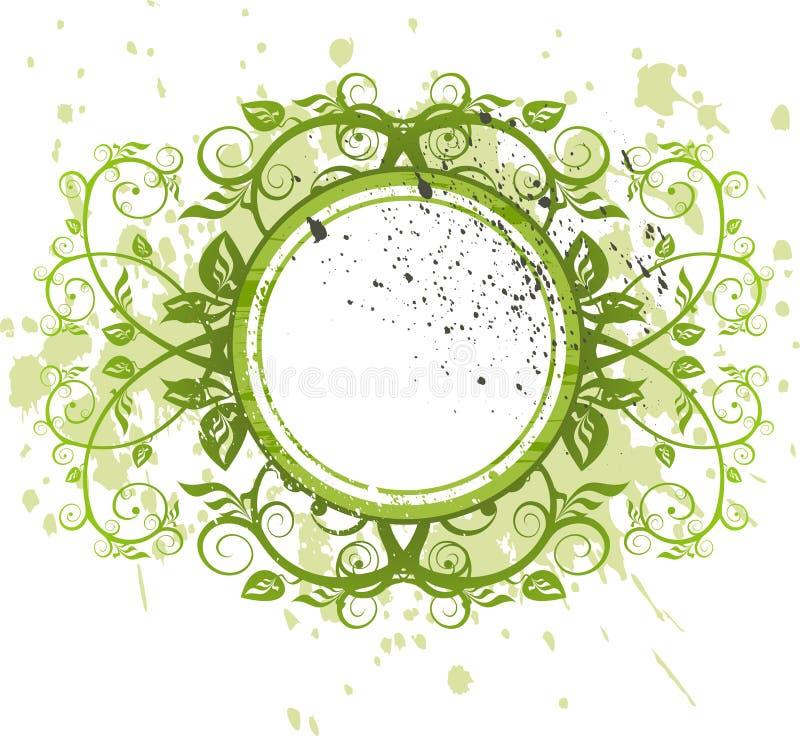 Florece la decoración en fondo del grunge ilustración del vector