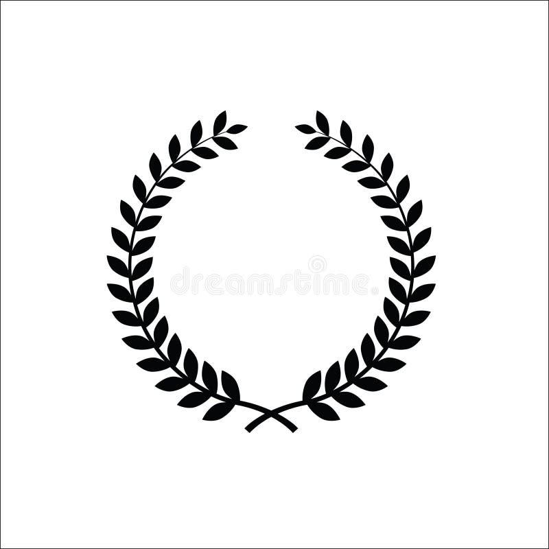 Florel花圈传染媒介象商标ilustration 库存例证