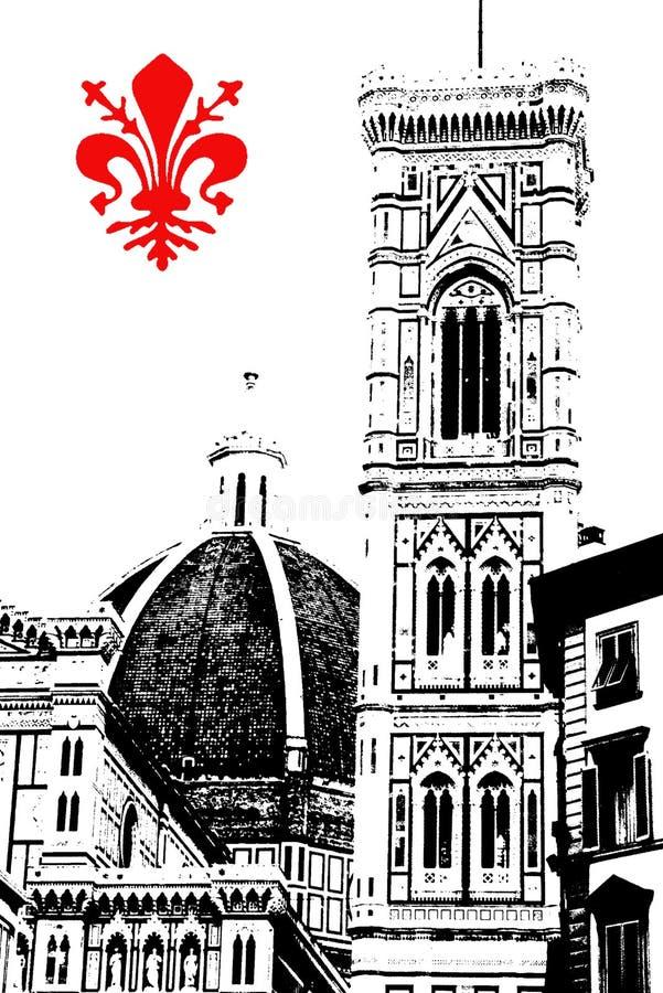 Florença ilustração royalty free