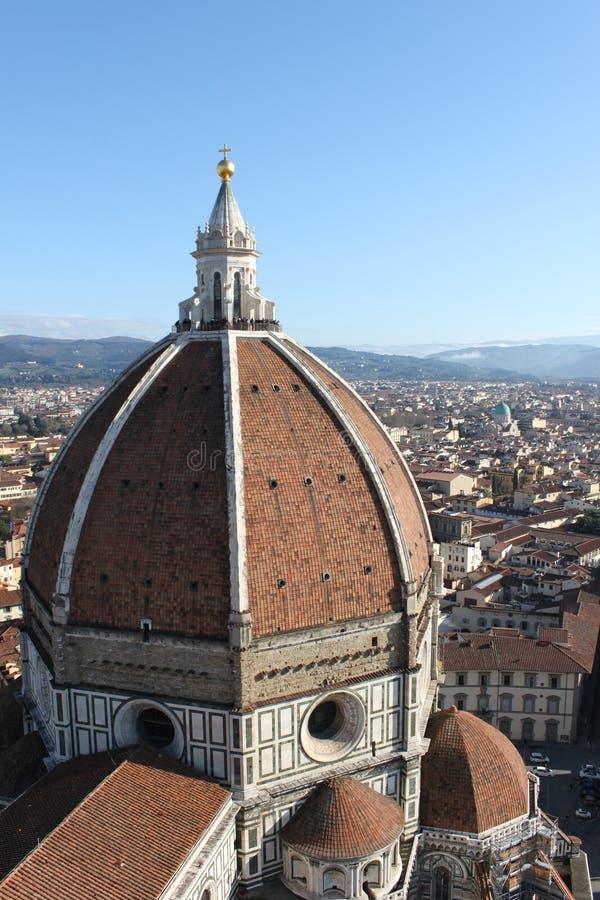 Florença, abóbada de Brunelleschi fotografia de stock