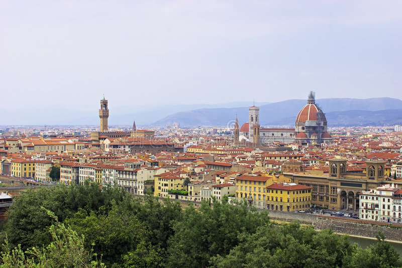 Download Florence. stock photo. Image of scene, italy, tower, down - 1961044