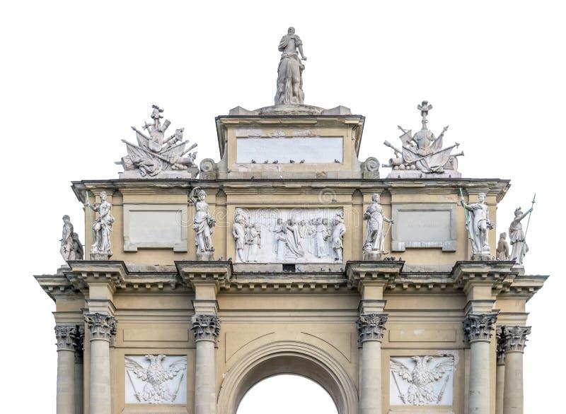 Florence Arc de Triomphe ha isolato su bianco fotografia stock