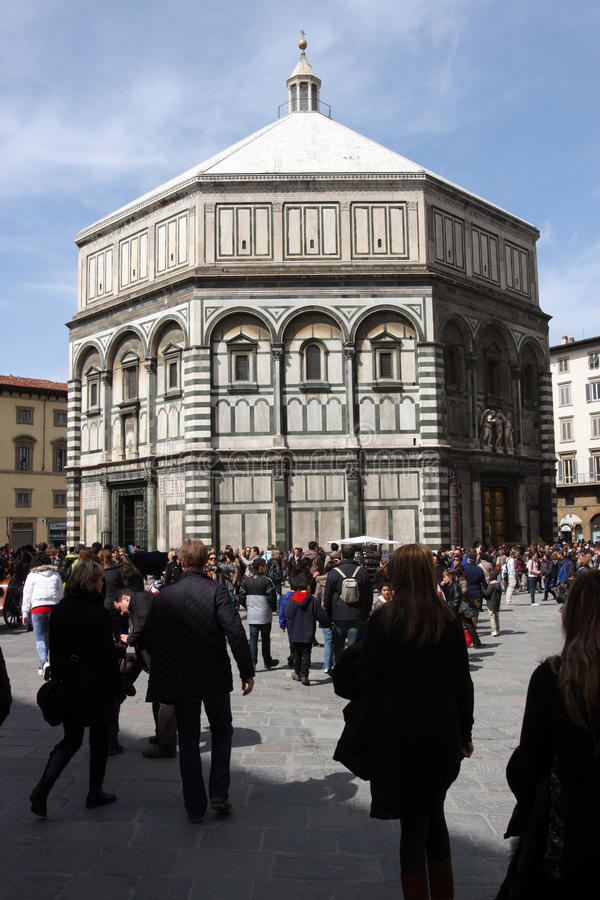 Florence Baptistery stockfoto