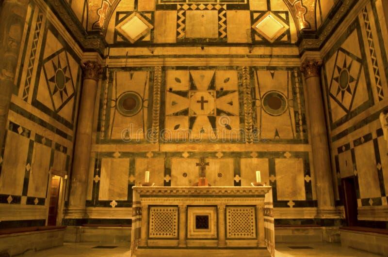 Florence baptysterium wewnętrznych Włoch zdjęcia royalty free