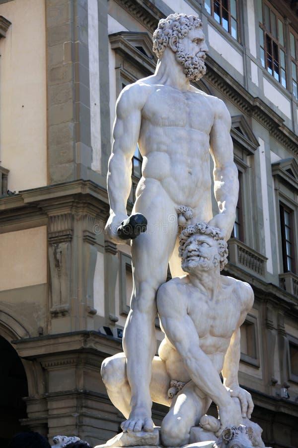 Florence, beeldhouwwerk van Hercules royalty-vrije stock fotografie