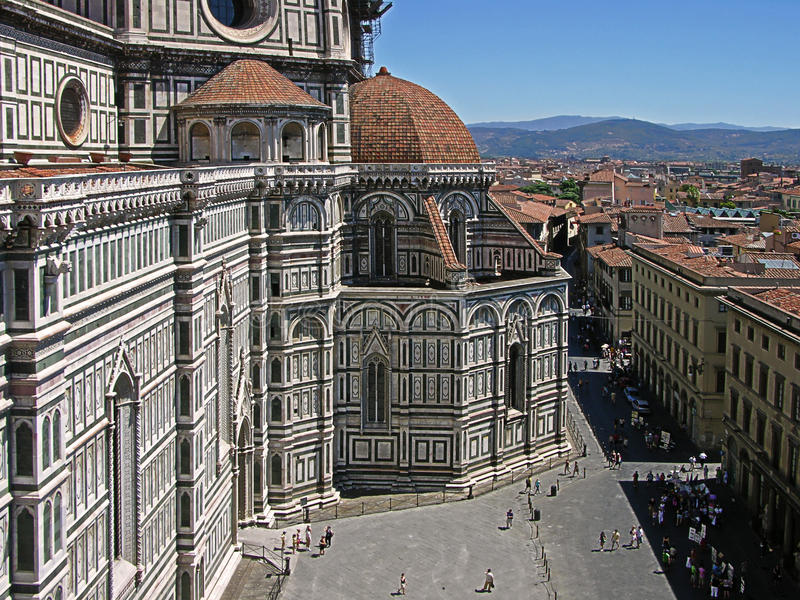 Florence from the Bell Tower royalty free stock photos