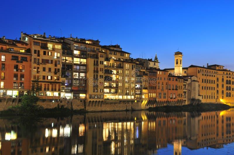 Florence bij zonsondergang stock fotografie