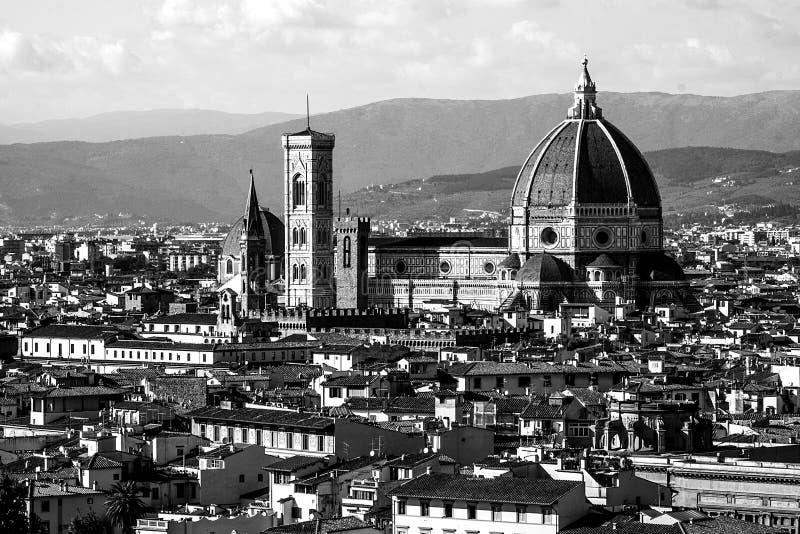 Florence Black et blanc photo stock