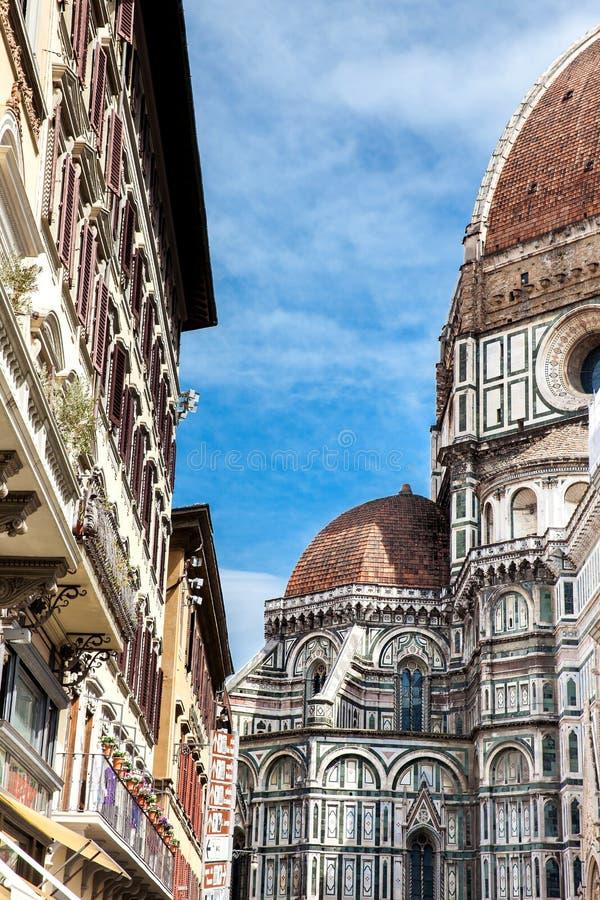 Florence Cathedral bonita consagrou em 1436 foto de stock