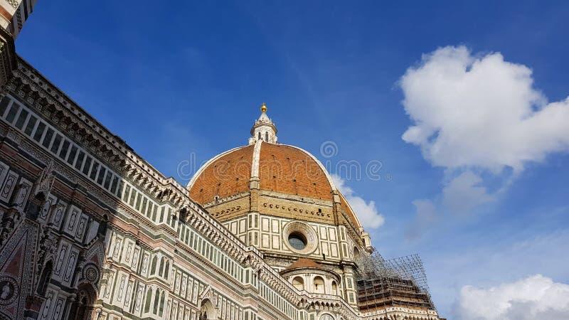 Florence Cathedral en de koepel van Brunelleschi, Toscanië, Italië royalty-vrije stock foto's