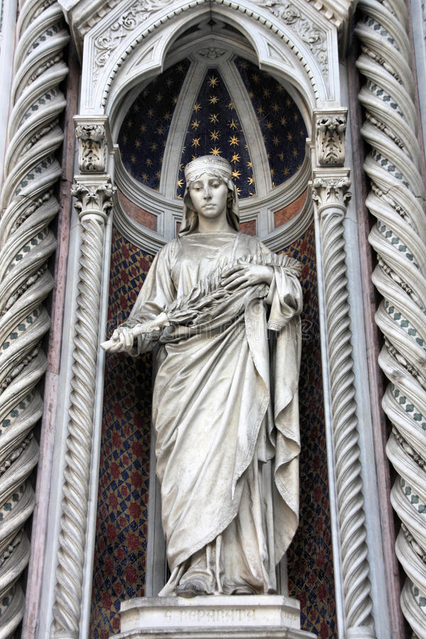 Florence cathedral facade royalty free stock photography