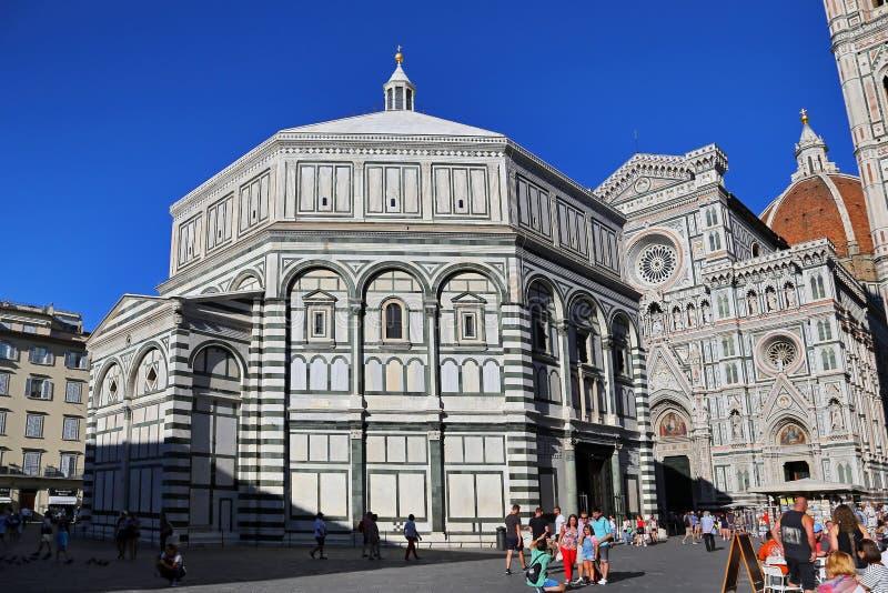 Florence Cathedral Il Duomo di Firenze på august 27, 2018 i Florence, Italien Florence är fotografering för bildbyråer