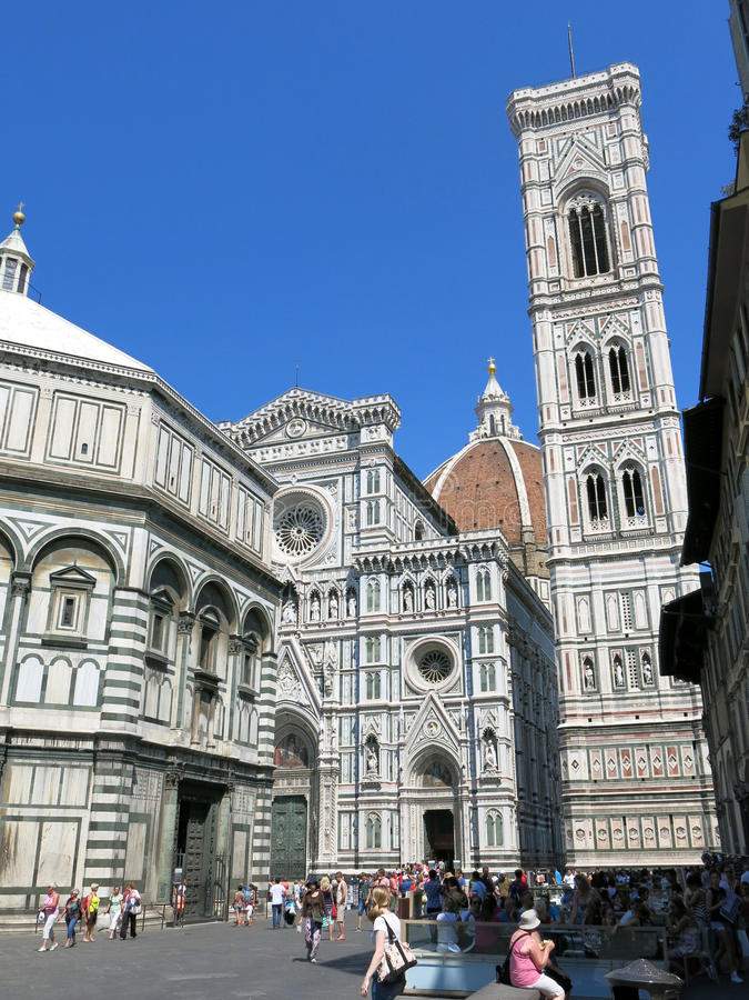 Cathedral Santa Maria del Fiore in Florence stock photo