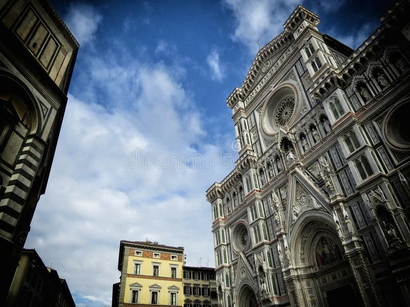 Florence Cathedral. A view of Florence cathedral, Italy stock photos