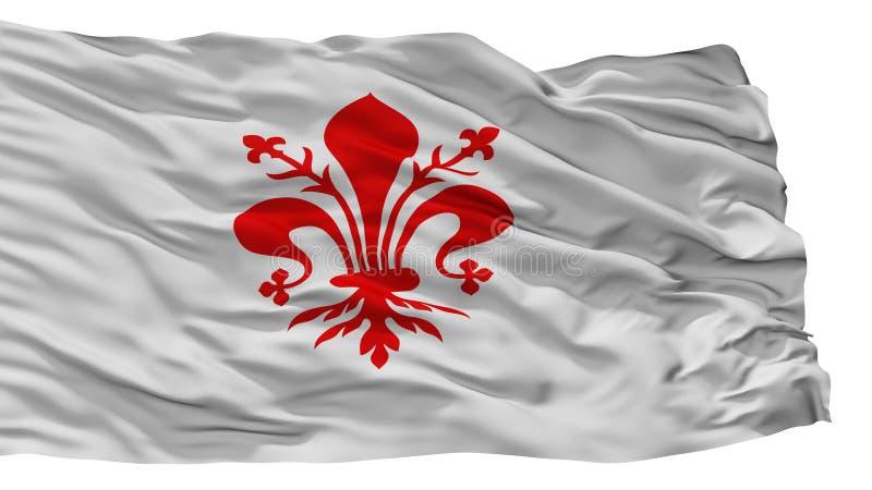 Florence City Flag, Italia, aislada en el fondo blanco ilustración del vector