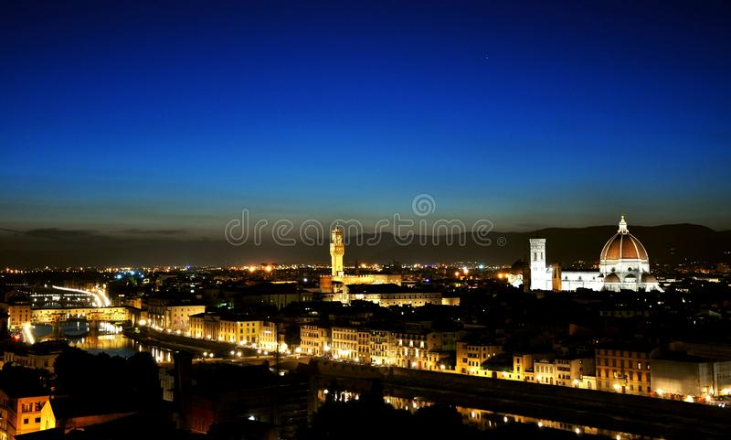 Florence city by night , Italy