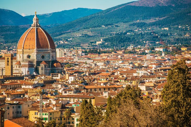 Florence City Panorama in Toscany Region of Italy stock photography