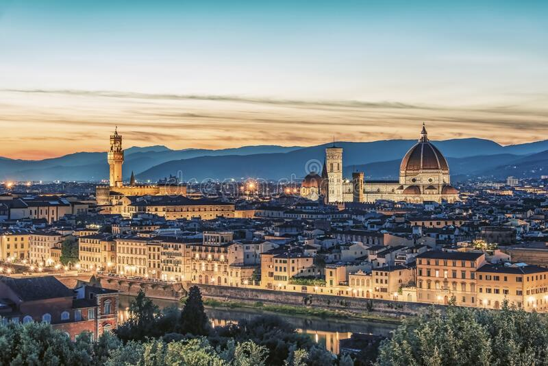 Architecture in Florence stock photo