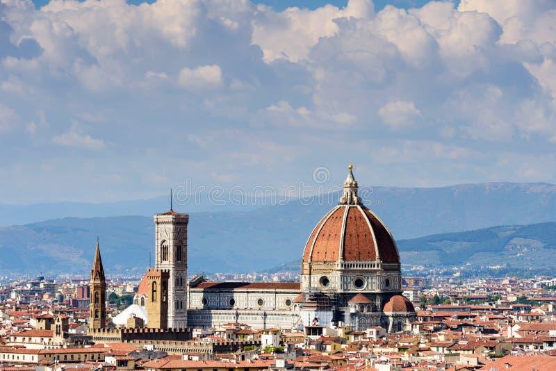 Florence Cityscape och Duomo Santa Maria Del Fiore, Firenze, Ita royaltyfri fotografi