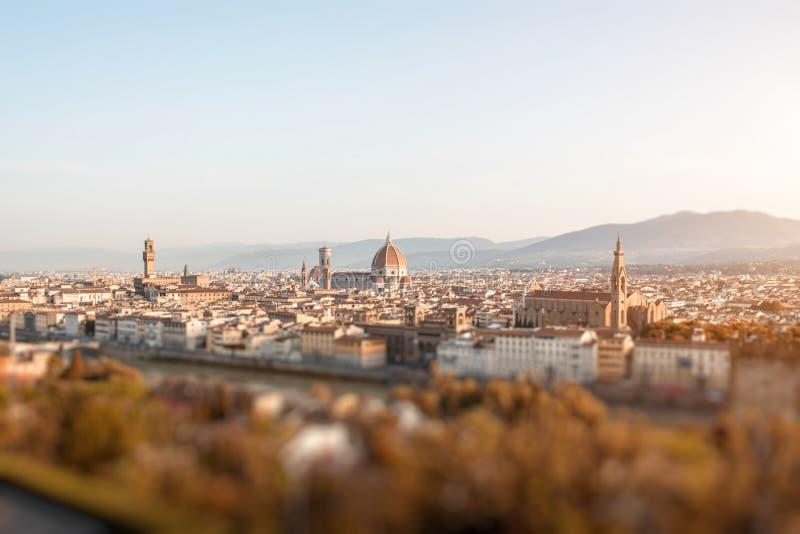Florence cityscapesikt arkivfoton