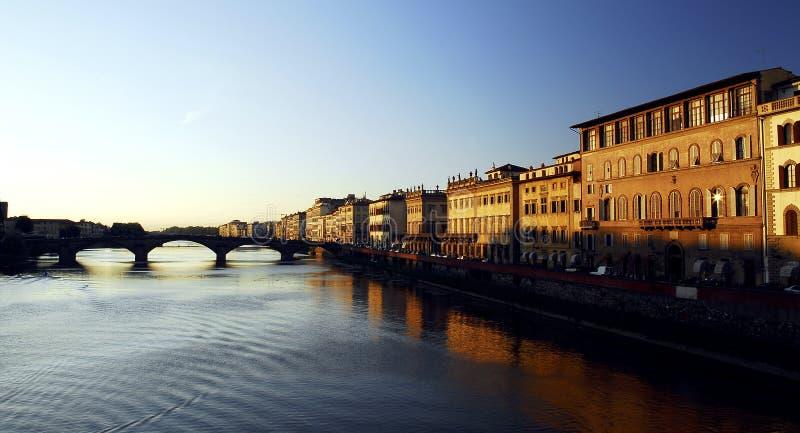 Florence - coucher du soleil photographie stock libre de droits