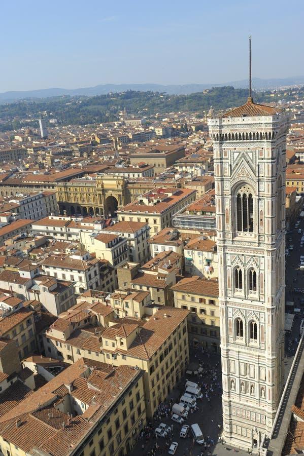 Florence, de klokketoren van giotto royalty-vrije stock afbeelding