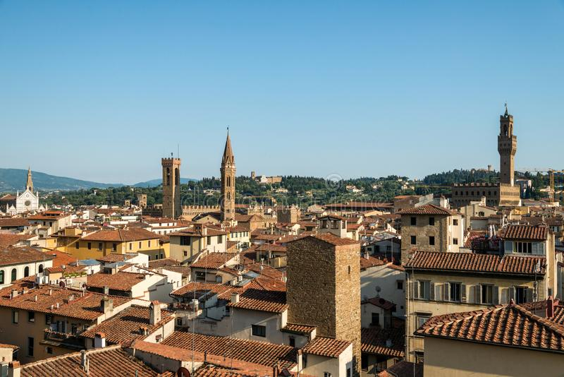 Florence de stad in stock foto