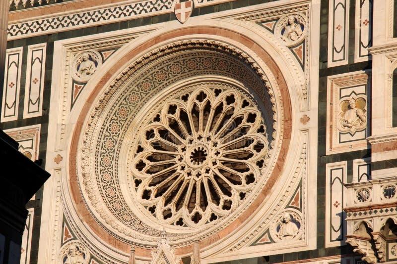 Florence detalj av domkyrkan Sant Maria av Fiower arkivfoton