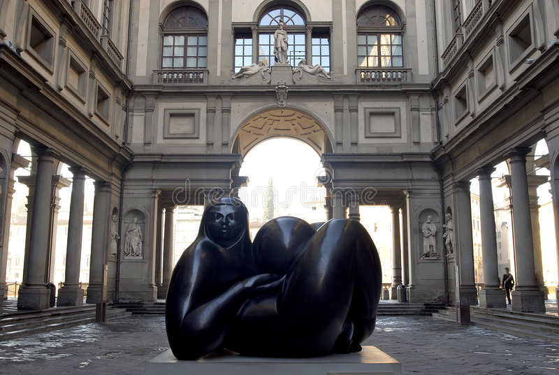 Florence do galerii uffizi degli obrazy stock
