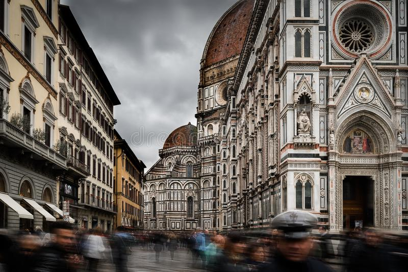 Florence Dome Long Exposure stock afbeelding