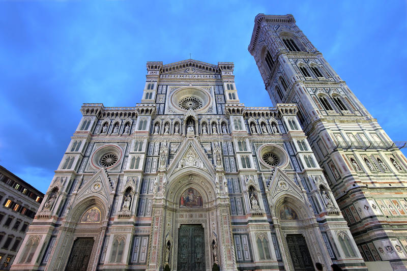 Florence domkyrka, Italien arkivbild