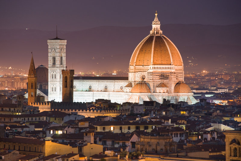 Florence, Duomo and Giotto's Campanile. royalty free stock images