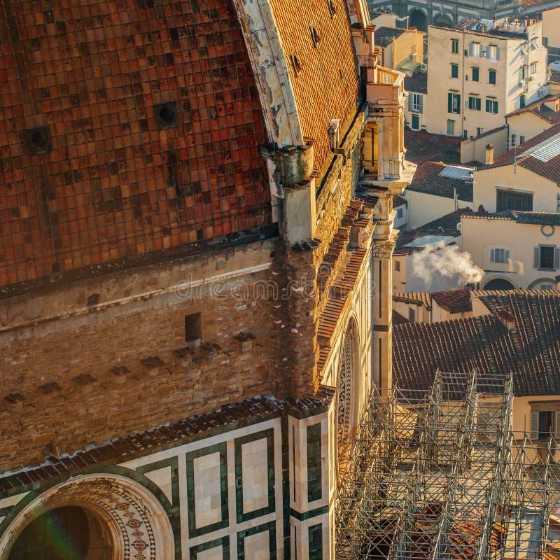 Florence Duomo, Italy. Basilica di Santa Maria del Fiore. View f royalty free stock photos
