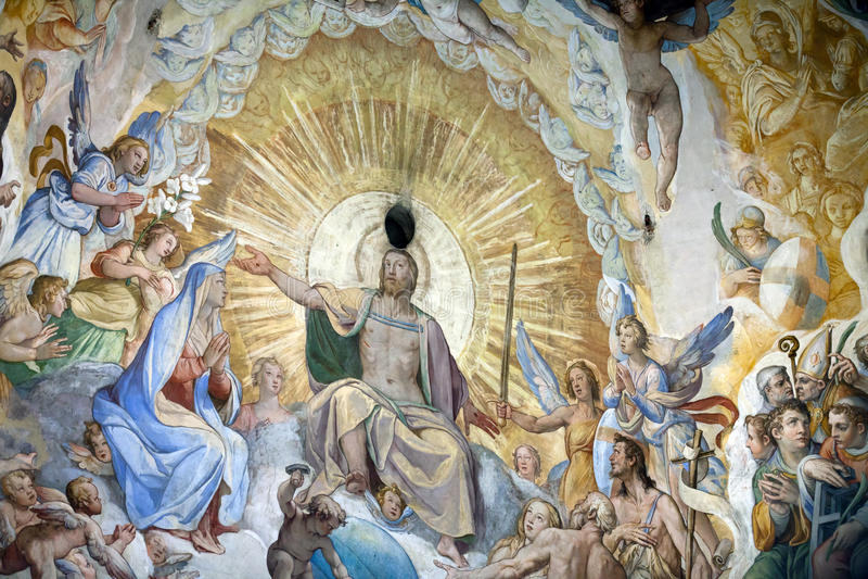 Florence - Duomo .The Last Judgement. stock photo