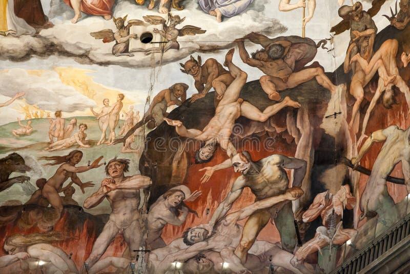 Florence - Duomo. Le dernier jugement. images stock