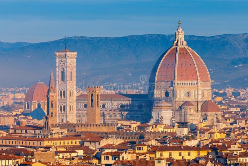 Florence Duomo på gryning royaltyfri bild