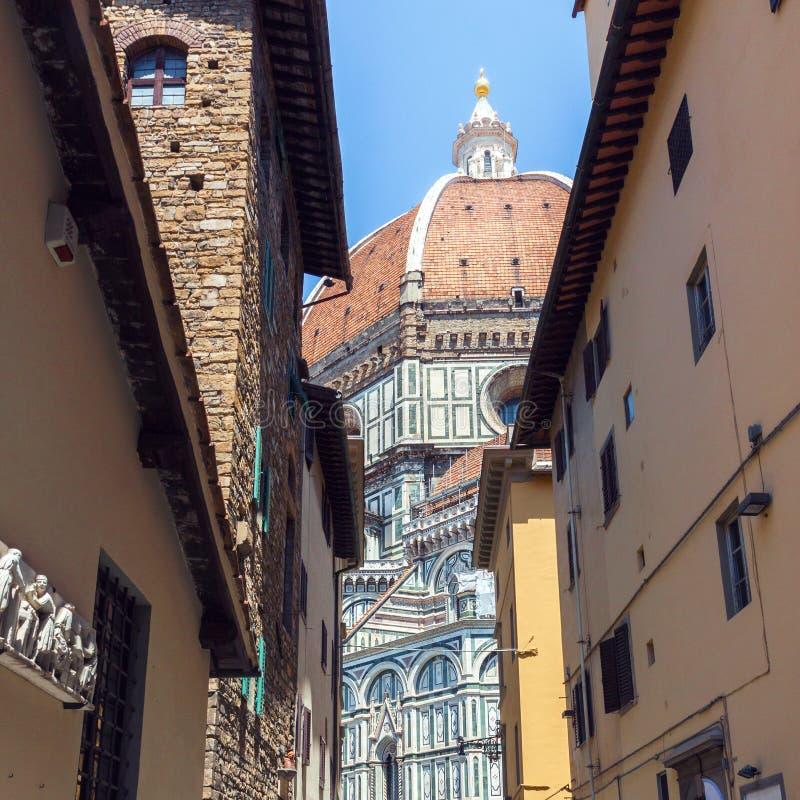 Florence Duomo Santa Maria del Fiore royaltyfria foton