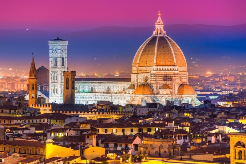 Florence Duomo, Toscanië. stock foto